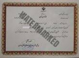 گواهینامه آشنایی با شرکت های دانش بنیان اکبر مزرئی